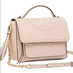 Fleming Satchel Shell Pink Crossbody bag